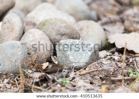 stones at nature as background