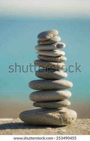 Stones balance  - stock photo