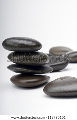 Stones for Spa and healthcare concept, Free space for text.