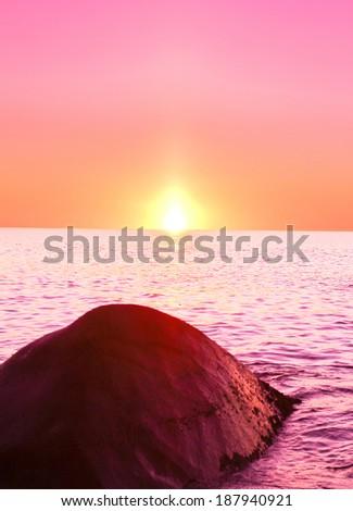 Stones Horizon Dream  - stock photo
