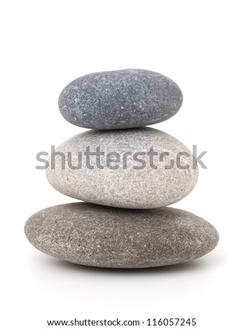stones isolated on white background - stock photo