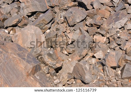 stones of iron ore - stock photo