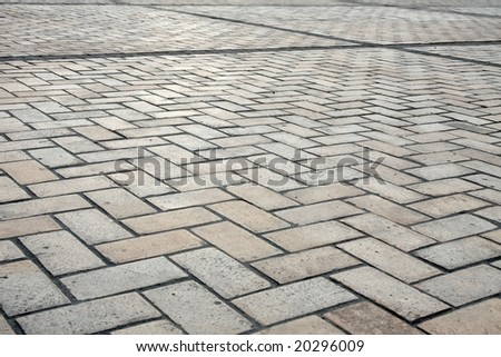 Stones of the pavement of an urban street - stock photo