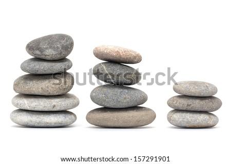 stones on white background - stock photo