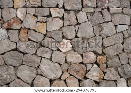 Stones put together create a wall texture background