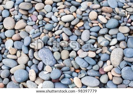 stones texture on beach - stock photo