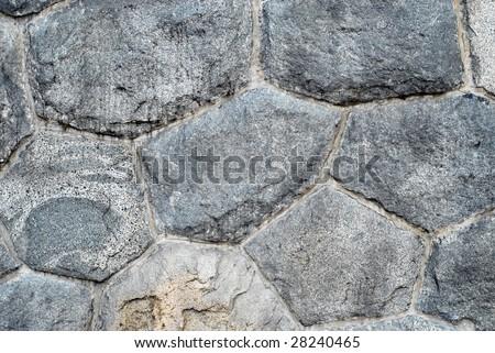 stones wall - stock photo