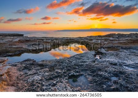 stony sea bay - stock photo