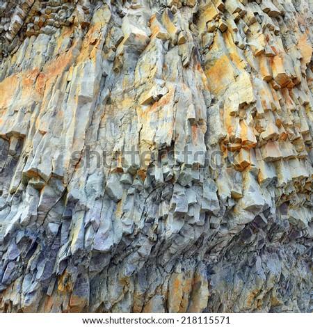 stony texture closeup background. - stock photo