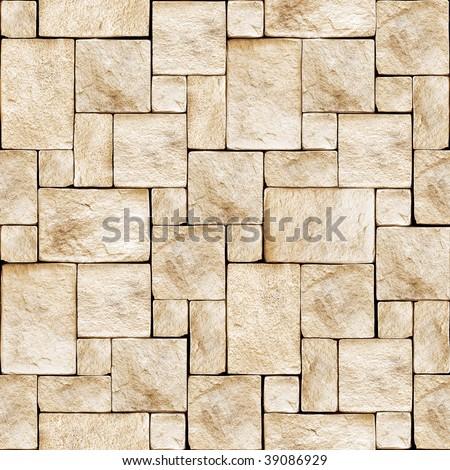 Stony wall seamless background. - stock photo