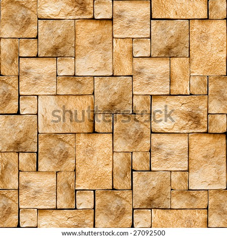Stony wall seamless background. (See more seamless backgrounds in my portfolio). - stock photo