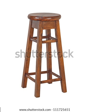 stool isolated on white background - stock photo