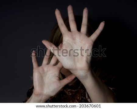 stop abuse - stock photo