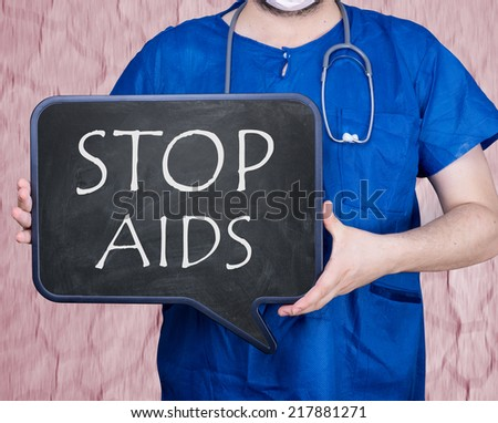 Stop aids hiv - stock photo