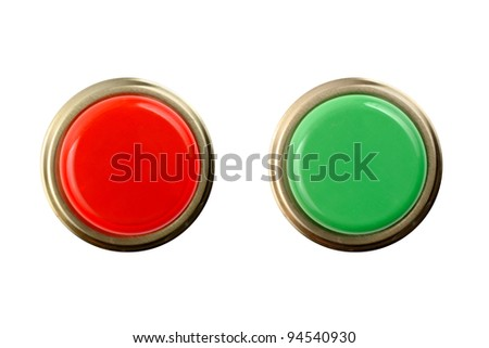 Stop and Go buttons top/front view a great image for your job. - stock photo