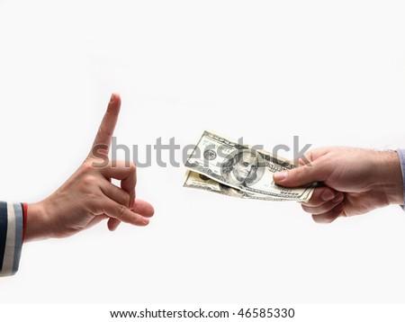 Stop bribe - stock photo