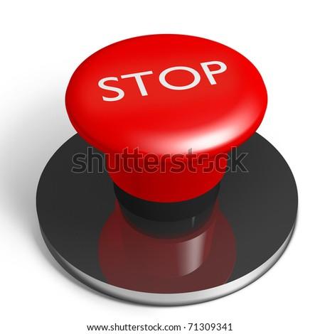 stop button - stock photo