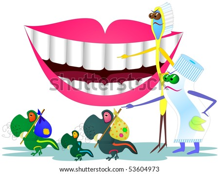 Stop caries - stock photo