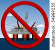 Stop Deep Sea Drilling. - stock photo