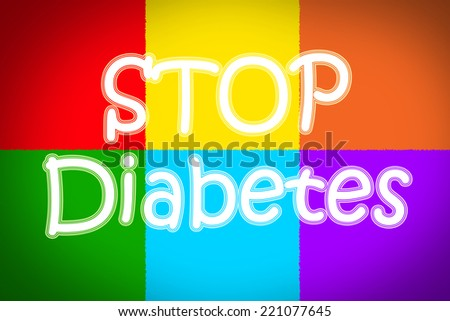 Stop Diabetes Concept text on background - stock photo