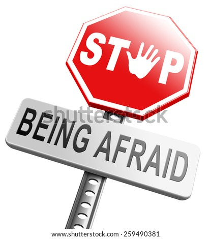stop fear or being afraid for snakes height needles spiders darkness arachnophobia phobia psychological paralysis panic attack - stock photo