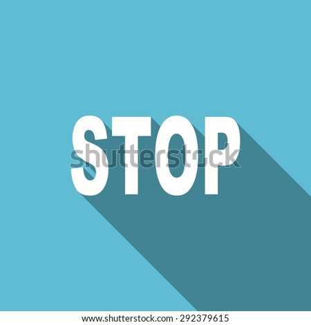 stop flat icon  original modern design flat icon for web and mobile app with long shadow