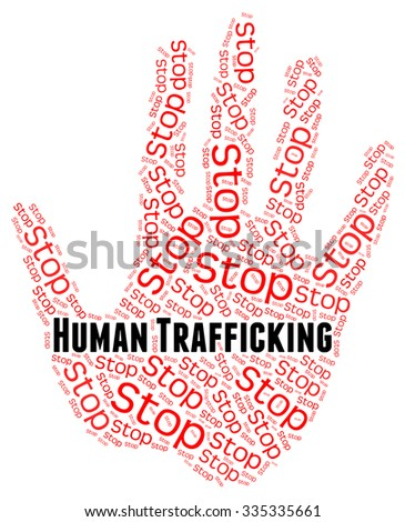 Stop Human Trafficking Representing Forced Marriage And Crime - stock photo