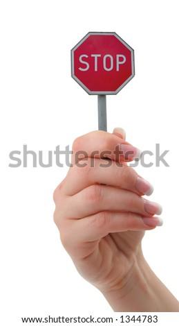 STOP IT - stock photo