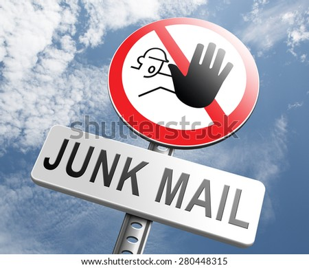 stop junk mail and spam - stock photo