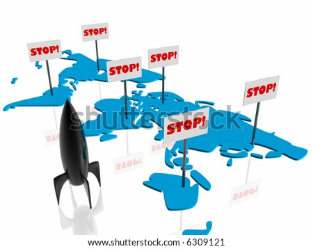 Stop on the war - stock photo