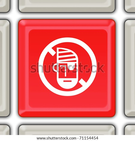 stop piracy button - stock photo