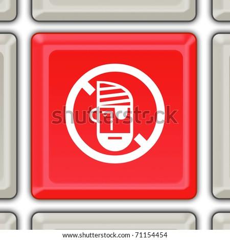 stop piracy button - stock photo