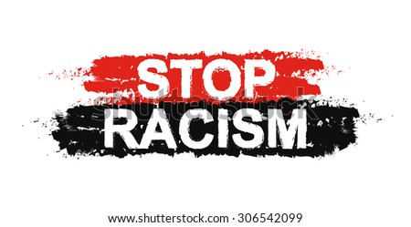 Stop racism paint ,grunge, protest, graffiti sign. Raster - stock photo