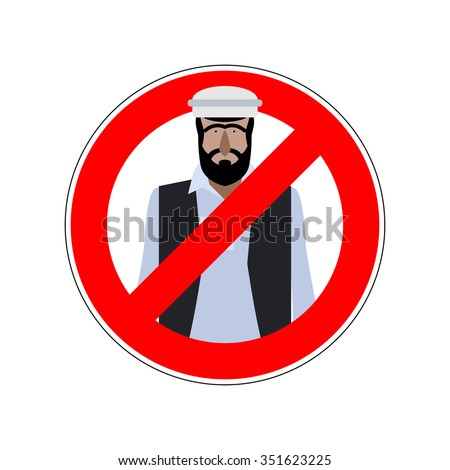 Stop refugees. Emigrants passage prohibited. Prohibiting sign for expatriates. red ban symbol for Europe.