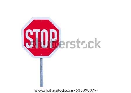 stop road sign with no background