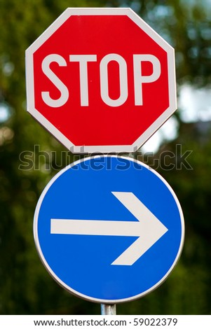 Stop sign - stock photo