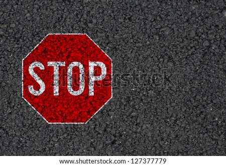 Stop sign background - stock photo