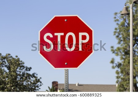 Stop Sign Close Up