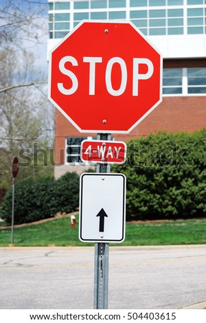 stop sign in residential district