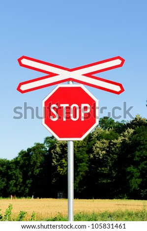 Stop sign in the nowhere