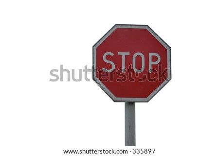 stop sign - isolated - stock photo