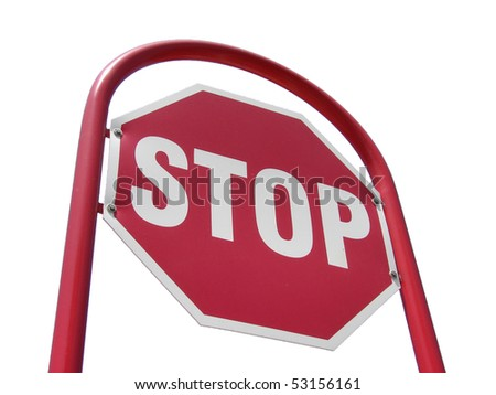 stop sign isolated - stock photo