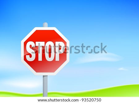 STOP SIGN Landscape, raster formant