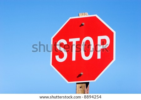Stop sign on a road