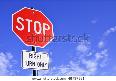 stop sign room for text - stock photo