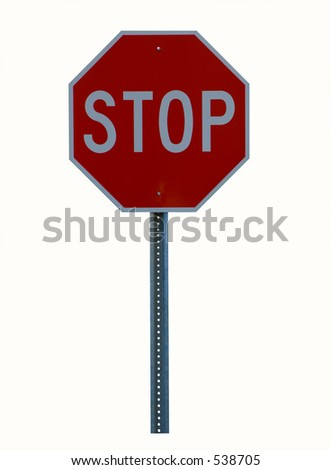 Stop Sign with Pole