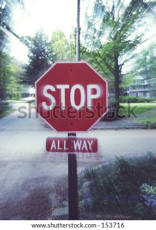Stop sign zoom