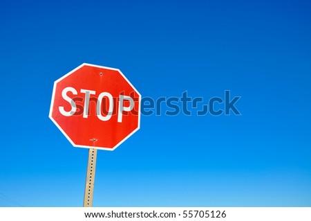Stop signal - stock photo
