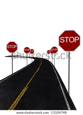 stop signs - stock photo