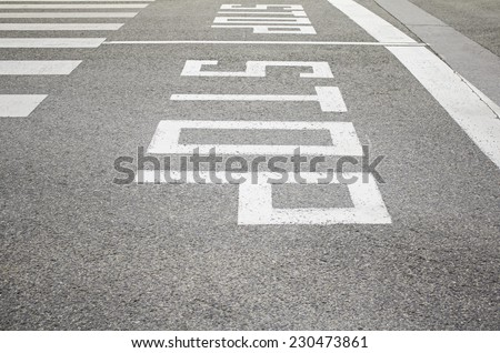 Stop signs in urban road transport, street